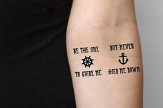 Anchor Quote - temporary tattoo (Set of - Guide Anchor Quotes, Anchor Tattoos, Tattoo Set, Hold Me, Temporary Tattoo, Tatting, Tattoo Quotes, Temp Tattoo, Anchor Quote