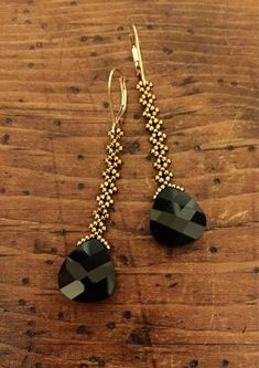 These sparkly Swarovski black crystal earrings feature a black jet Swaro… - Earrings Jewelry Black Jewelry, Black Earrings, Diy Earrings, Chandelier Earrings, Beaded Chandelier, Gold Jewelry, Bead Jewellery, Pendant Jewelry, Handmade Beaded Jewelry