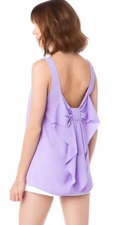 Lavender Bow Tank ღ SO cUte! (just saw this at charming charlie's , too! ;p)