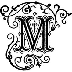 117 Best The Letter M Images Initials Monogram Calligraphy
