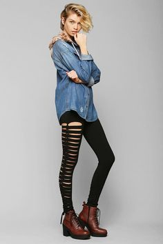 Tripp NYC Side Lace-Up Legging #urbanoutfitters