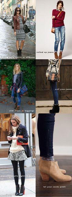 how-to-wear-short-boots.jpg 594×1,619 pixels