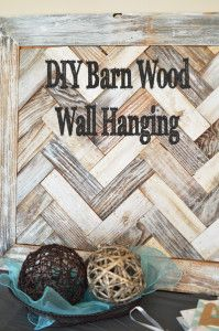 DIY Barn wood wall hanging