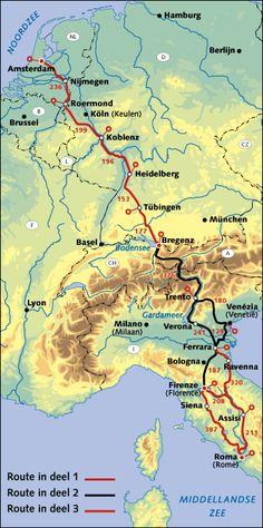 Fietsroute van Rome naar Elst. Touring Bicycles, Ravenna, Siena, Trekking, Netherlands, Trips, Road Trip, Bike, Holidays