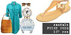 Ținută cu #sandalefaine. Rochie - cămașă turqoise, geantă camel, ochelari de soare cu lentile maro și rame leopard print, un strop de Marc Jacobs și o pereche de sandale FUNKY NUDE. Pentru că ne place vara.  FUNKY NUDE - acum, doar 107 ron shop @ https://funkyfain.ro/sandale-c-23/sandale-din-piele-naturala-cu-talpa-joasa-funky-nude-crem-p-186.html?zenid=jlt8bg8476n5q24svs5hpgjeb3 [sursa: polyvore.com]