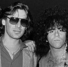 Alex Van Halen and Eric Carr