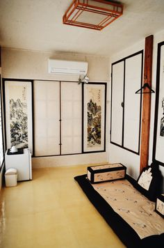 Traditional Korean Hanok Room Interior (Jeonju, South Korea)