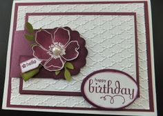 SU! Fabulous Florets Stamp set in Rich Razzleberry - Penny Hanuszak