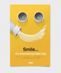 International Sake Day by Jimmy Gleeson, via Behance Graphic Design Branding, Graphic Design Illustration, Logo Design, Print Design, Typography Ads, App Promotion, Identity, Smile Design, Unique Poster