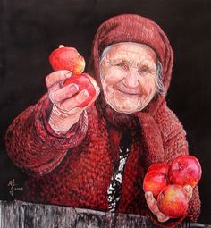 Come Little Hansel and Little Gretel - have a nice shiny red apple ... hehehe ...