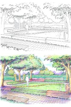 landscape design birds eye view drawing sketches of landscape design for residential garden