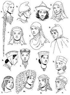 Twelfth-century headdresses.