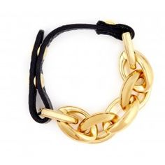 CHAIN LINK LEATHER BRACELET $34.95