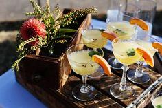 VEGAN GARDEN DINNER | HeirloomLA - Peach Fizz Mocktail