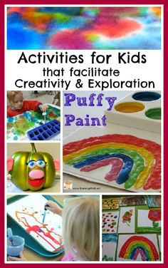 Lots of fun activities for kids that foster creativity, imagination, & exploratory learning!