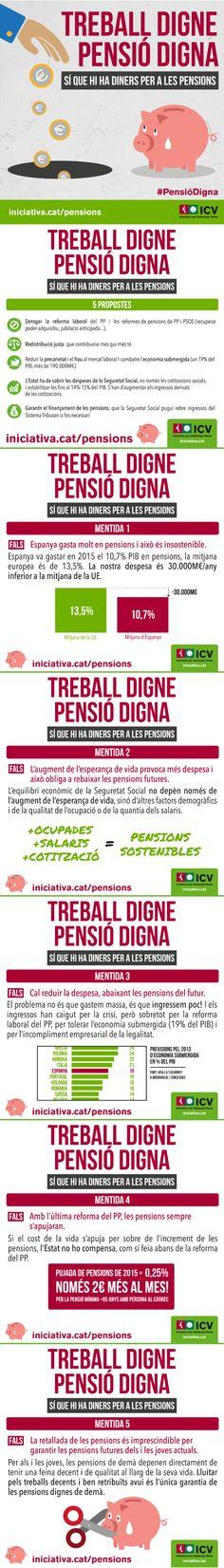 """""""Treball digne, pensió digna"""" - Campanya sobre pensions (11-12/2016)"""