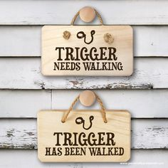 Double sided wooden sign personalised with the name of your dog and designed to let everyone in the house know whether this is a task waiting for someone to finish! A welcome and funny gift especially for dog owners One side reads 'Needs Walking' the other side reads 'Has Been Walked'. What Can I Put On Personalised Dog Needs Walking Wooden Sign? Personalise with name of Dog up to 14 characters Who Is The Gift Ideal For? A unique and funny gift  for dog owners. Engraved using the latest in…