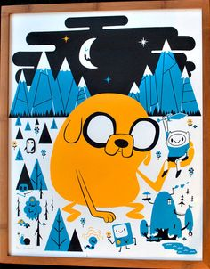 Mid-Century Modern Art of Adventure Time. Pop culture inspires itself. | Distant Lands by Sean Dove