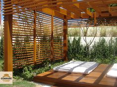 The wooden pergola is a good solution to add beauty to your garden. If you are not ready to spend thousands of dollars for building a cozy pergola then you may devise new strategies of trying out something different so that you can re Outdoor Pergola, Outdoor Areas, Outdoor Rooms, Outdoor Living, Outdoor Yoga, Pergola Swing, Interior Exterior, Exterior Design, Garage Exterior