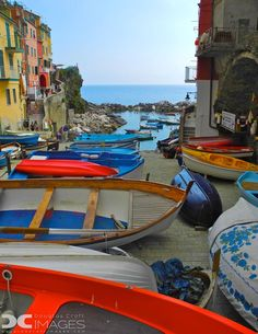 The tiny harbor in the most southern village of the Cinque Terre, Riomaggiore.  Doug Croft captured this colorful scene on a My Way Italy tour » http://rickstev.es/CKWc8