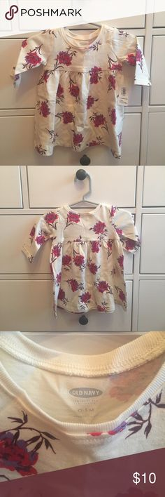 🌺NWT🌺 Old Navy floral top - 0-3 Months 🌺 🌺NWT🌺 Old Navy floral top - Ivory with multicolored flowers • 0-3 Months 🌺 ‼️open to offers‼️ Old Navy Shirts & Tops