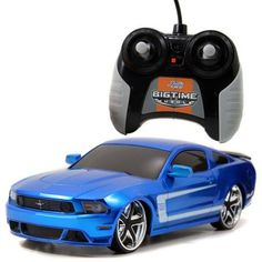 Jada Toys Big Time Muscle R/C 2012 Ford Mustang Boss 302, Blue