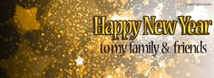 Happy New Years To My Family and Friends Stars Facebook Cover CoverLayout.com