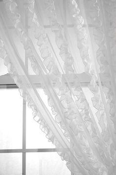 Ruffle Stripe Curtain I saw through a blog by @Holly Tabor.  Love it!