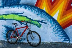 This MTB was designed to conquer the streets in Bucharest. Let the adventure begin! Mountain Bicycle, And So The Adventure Begins, Bucharest, Mtb, Trekking, Painting, Design, Painting Art