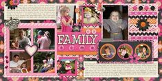 Great double page scrapbook layout!   -Family Time