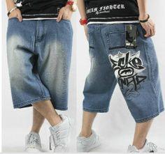Summer Shorts Hip Hop Loose Casual Skateboard Pants Mens Jeans Shorts 010 1 | eBay