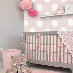 Polka Dot Off-White/ Pink Removable WallPaper