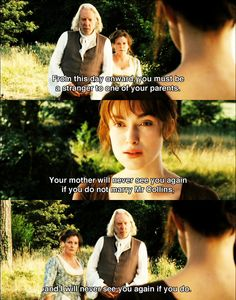 Jane Austen - Proud & Prejudice. A fantastic scene! Jane Eyre, Jane Austen Books, Tv Quotes, Movie Quotes, Funny Quotes, Mr Collins, Pride And Prejudice 2005, Pride And Prejudice Quotes, Mr Darcy