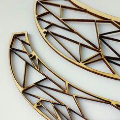 Cristallisation de bois  #stonepaperfeather #wood #lasercut by stonepaperfeather