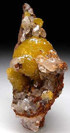 Adamite with Calcite