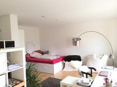 schöne, helle Wohnung mit großem Balkon, möbliert - 1-Zimmer-Wohnung in Mannheim-Neckarau
