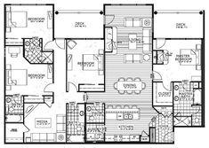 38 trendy Ideas for apartment penthouse floor plan small spaces Condo Floor Plans, Mobile Home Floor Plans, Floor Plan 4 Bedroom, Apartment Floor Plans, 4 Bedroom Apartments, New York Apartments, Apartment Layout, Apartment Design, Penthouse Apartment
