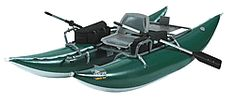 OUTCAST PAC 1000 inflatable fishing boat is a great 10 ft pontoon: NO SALES TAX, and FREE domestic SHIPPING on Outcast rafts from the Caddis Fly Shop Our Caddis Fly Shop staff have personal experience with anglers and guides who fish the PAC series of inflatable fishing boats.  We can help you choose the best boat and appropriate accessories, plus delivery in prompt fashion.    These OUTCAST PAC 1000 fishing boat features the highest standards in the industry, with a 10 year warranty…