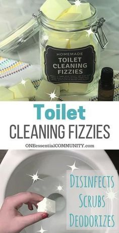 Toilet Cleaning Fizzies - Doterra essential oils - DIY Toilet Cleaning Fizzies with essential oil {aka toilet bombs] – cleans, freshens, scrubs, rem - Deep Cleaning Tips, House Cleaning Tips, Spring Cleaning, Cleaning Hacks, Diy Hacks, Cleaning Solutions, Toilet Cleaning Tips, Organizing Cleaning Supplies, Diy Organization