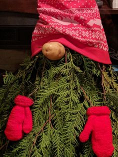 I love Gnomes and this was so easy to do! All you need for each gnome is a tomato cage branches from a Christmas tree a pair of toddler mittens a pair of… Cheap Christmas Trees, Mini Christmas Tree, Christmas Gnome, Plaid Christmas, Christmas Angels, Christmas Wreaths, Christmas Crafts, Christmas Ideas, Christmas Skirt
