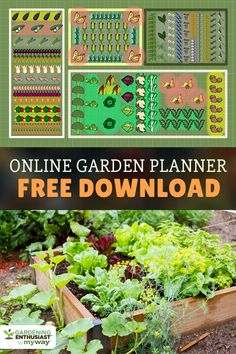 A simple small-space garden layout, with everything you'd ...