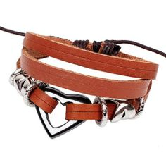Fashion Lady Retro Hearts Metal Leather Brown Weave Bracelet Strands Bracelet Suede Rope Bracelet Gift Whatland,http://www.amazon.com/dp/B00J3M77TS/ref=cm_sw_r_pi_dp_ejLEtb0M3EBVX8PV