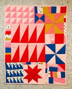 Diy Crafts for the Home Small Quilts, Mini Quilts, Baby Quilts, Quilting Projects, Quilting Designs, Sewing Projects, Sampler Quilts, Fun Illustration, Bias Tape