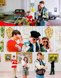 """Ferris Buellers Day Off - """"Life moves pretty fast."""" Sweet Home Chicago Alan Ruck, Ferris Bueller, 90s Movies, Great Movies, Love Movie, Movie Tv, Movies Showing, Movies And Tv Shows, Save Ferris"""
