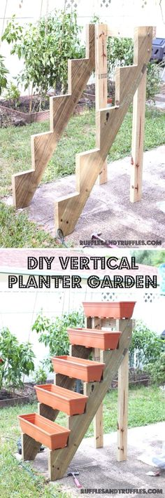 Vertical garden ideas are various garden designs that incorporate modern and old fashioned indoor and outdoor set up. It is also a perfect solution for just about any garden struc  #BackyardGarden #moderngardens