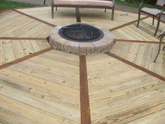 Backyard Deck design for a firepit
