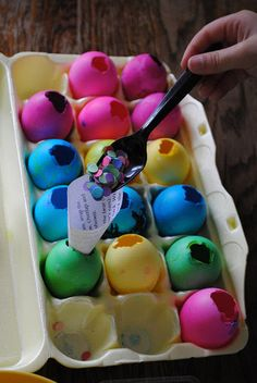 Brief History of the cascaron. Already saving egg shells for Easter! Great idea on how to fill them. :) The boys love these!