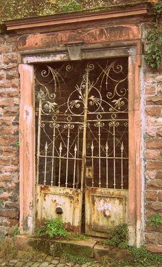 old door in Heidelburg, Germany