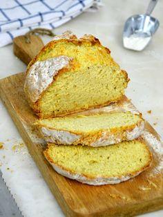 Pan de soda irlandés. Cómo hacer pan sin levadura Pan Rapido, Pain, Baking Soda, Vegetarian Recipes, Bakery, Food Porn, Food And Drink, Veggies, Gluten Free