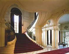 Now that is a grand staircase.Rosecliff Mansion in Newport, Rhode Island